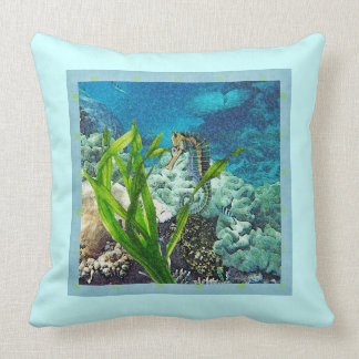Whimsical Seahorse Throw Pillows