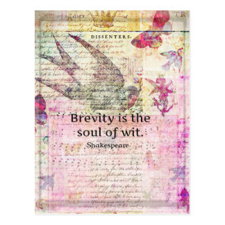 Whimsical Shakespeare quote from Hamlet Postcard