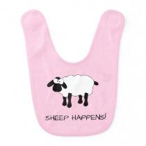 Whimsical Sheep Baby Bib