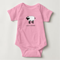 Whimsical Sheep Baby Bodysuit