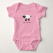 Whimsical Sheep Baby Bodysuit