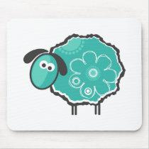 Whimsical Sheep Mouse Pad