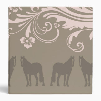 Whimsical Show Pony Horse Pattern 3 Ring Binders