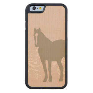 Whimsical Show Pony Horse Pattern Carved Maple iPhone 6 Bumper Case