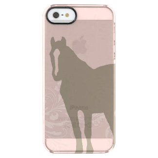 Whimsical Show Pony Horse Pattern Clear iPhone SE/5/5s Case