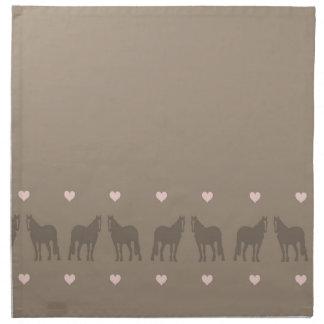 Whimsical Show Pony Horse Pattern Cloth Napkin