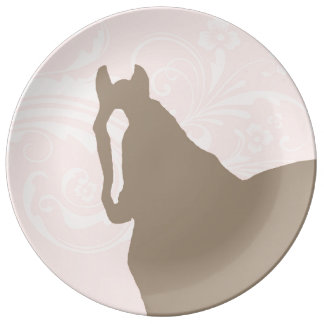 Whimsical Show Pony Horse Pattern Dinner Plate