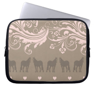 Whimsical Show Pony Horse Pattern Laptop Computer Sleeves