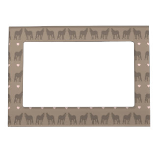 Whimsical Show Pony Horse Pattern Magnetic Photo Frame