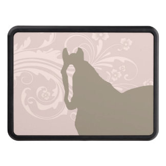 Whimsical Show Pony Horse Pattern Trailer Hitch Cover