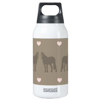Whimsical Show Pony Horse Pattern Thermos Water Bottle
