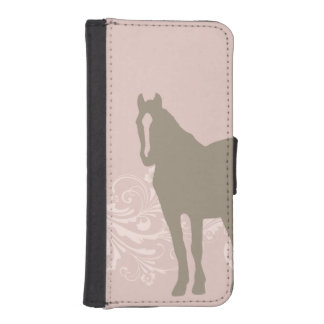 Whimsical Show Pony Horse Pattern Wallet Phone Case For iPhone SE/5/5s