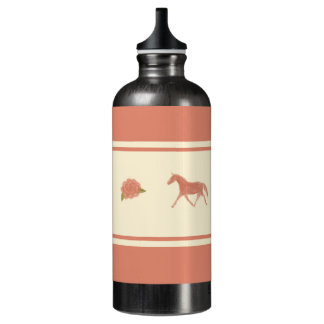 Whimsical Show Pony Horse Pattern Water Bottle