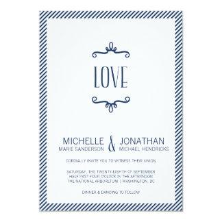 "Whimsical Simple Wedding 5"" X 7"" Invitation Card"