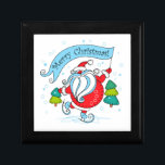 "Whimsical Skating Santa Claus | Merry Christmas Gift Box<br><div class=""desc"">This holidays design features a whimsical Santa Claus ice skating holding a flag saying ""Merry Christmas. Perfect for those winter Christmas parties. #christmas #holidays #seasonal #festive #santa #santaclaus #fatherchristmas #whimsical #cute #red #green #blue #skating #winter #snow #snowing #sports #iceskating #merry #merrychristmas #giftboxes #box #giftwrapping #gifts #party #partysupplies #crafts #home #office...</div>"