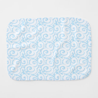 whimsical sky blue pattern burp cloth