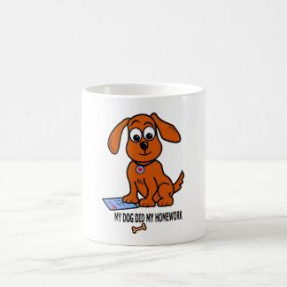 Whimsical Small Dog Image on Mug
