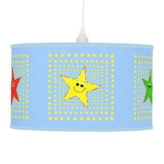 Whimsical Smiley Stars for Kids Ceiling Lamp