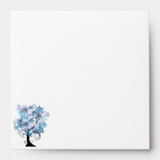 Whimsical Snowflake Tree Posh Wedding Envelope