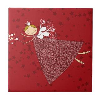 Whimsical Snowflakes Christmas Fairy Holiday Tile