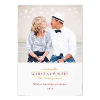 "Whimsical Snowflakes Holiday Photo Card Groupon 5"" X 7"" Invitation Card"