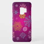 "Whimsical Snowflakes Winter Wonderland Case-Mate Samsung Galaxy S9 Case<br><div class=""desc"">A stunning iPhone case with a beautiful combination of whimsical snowflakes on a bright pink purple background.</div>"