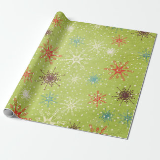 Whimsical Snowflakes Wrapping Paper