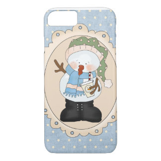 Whimsical Snowman Barely There iPhone Case