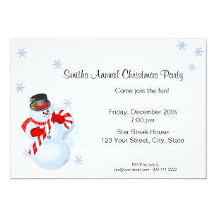 snowman christmas party invitations announcements zazzle