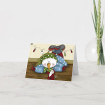 Whimsical Snowman Fun Season of Joy Holiday Card