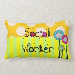 Whimsical Social Worker Pillow