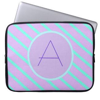 Whimsical soft-Basic Monogram A Laptop Sleeve
