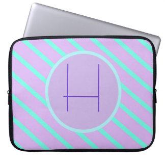 Whimsical soft-Basic Monogram H Laptop Sleeve