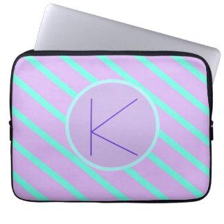 Whimsical soft-Basic Monogram K-Laptop Sleeve Laptop Computer Sleeves