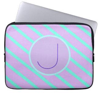 Whimsical soft-Basic Monogram Laptop Sleeve