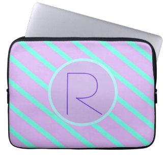 Whimsical soft-Basic Monogram R-Laptop Sleeve Computer Sleeve