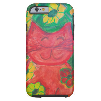 Whimsical Sophie the Happy Green Kitty Tough iPhone 6 Case