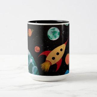 Whimsical Space Mug