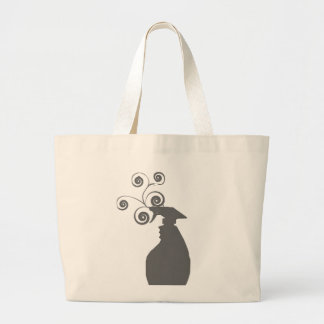 Whimsical Spray Bottle Cleaning Organizing Large Tote Bag