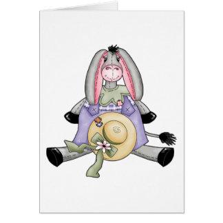 Whimsical Spring Donkey Greeting Cards
