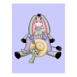 Whimsical Spring Donkey Post Card