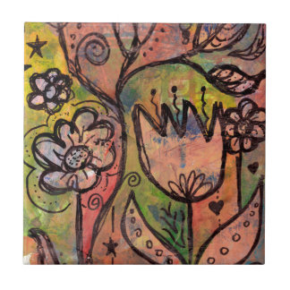 Whimsical Spring Faerie Garden Tile