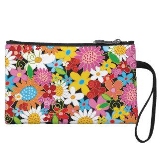 Whimsical Spring Flowers Garden Clutch Bagettes Ba Wristlet