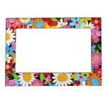 Whimsical Spring Flowers Garden Floral Magnetic Fr Magnetic Frame