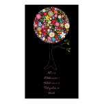 Whimsical Spring Flowers Pop Tree Colorful Nature Double-Sided Standard Business Cards (Pack Of 100)