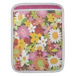 Whimsical Spring Flowers Sweet Pink iPad Sleeve