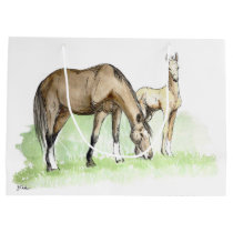 Whimsical Spring Horse Foal Large Gift Bag