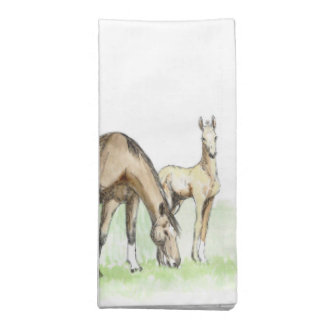 Whimsical Spring Horse Foal Napkin