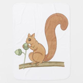 Whimsical Squirrel + Acorns by Tom Seidmann Freud Stroller Blankets