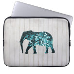 Whimsical Stars Sparkles Elephant Silhouette Computer Sleeve